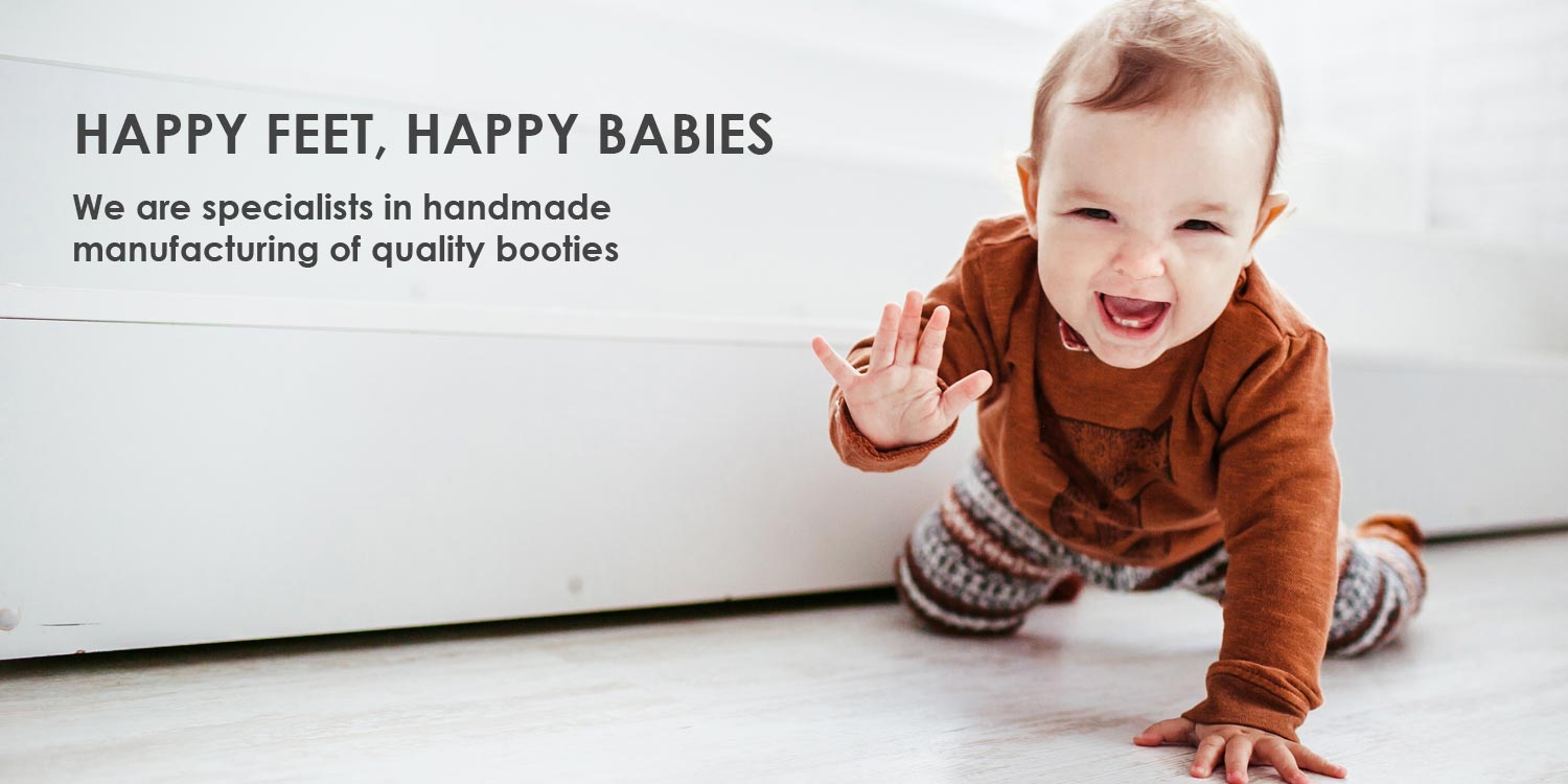 Quality handmade booties for happy babies